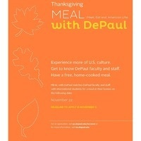 MEAL with DePaul for Thanksgiving!