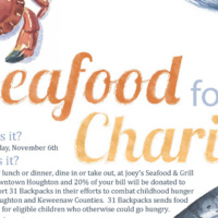 Joey's Seafood Fundraiser for 31 Backpacks