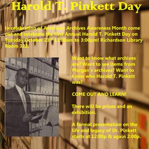 First Annual Harold T. Pinkett Day