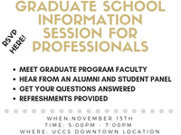 Graduate School Information Session Downtown for Professionals