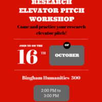 Research Elevator Pitch Workshop