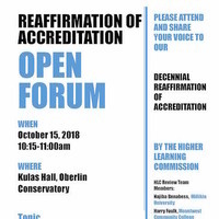 Reaffirmation of Accreditation Open Forum 2