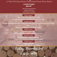 Wine Dinner with Selection of Spanish Wines