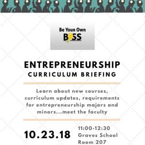Entrepreneurship Curriculum Briefing