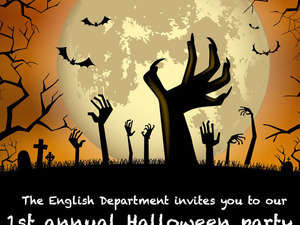 Department for English 1st Annual Halloween Party