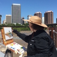 All-Day En Plein Air Demonstration with Palette Knife, Q&A, Brown Bag Lunch!
