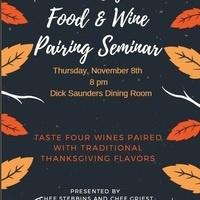 Food and Wine Pairing Seminar