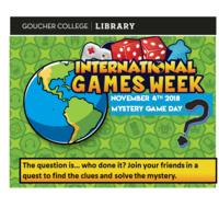 International Games Week- Mystery Games Day