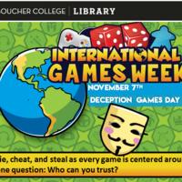 International Games Week - Deception Games Day