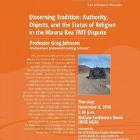 Discerning Tradition: Authority, Objects, and the Status of Religion in the Mauna Kea TMT Dispute