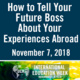 How to Tell Your Future Boss About Your Experiences Abroad
