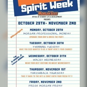 Morgan State Spirit Week 2018