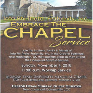 "Iota Phi Theta Fraternity, Inc. ""Embrace the Chapel"" Service"