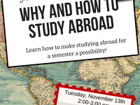 Why and How to Study Abroad