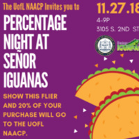 Percentage Night at Senior Iguanas
