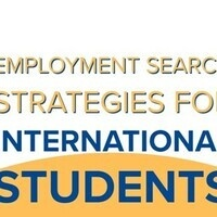 EMPLOYMENT SEARCH STRATEGIES - Career Series for International Students