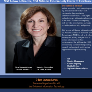 D-RED Lecture Series - Cybersecurity: Facing One of the Nation's Greatest Challenges Together