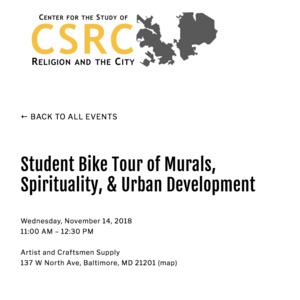 Student Bike Tour: Baltimore Murals, Spirituality & Development