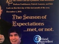 Portland Storytellers Guild: The Season of Expectations: Met? Or Not?