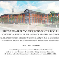 From Prairie to Performance Hall: An Architectural History of the 2300 Block of North Halsted Street