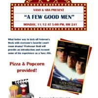 """VASO Screens """"A Few Good Men"""""""