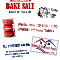 Veteran's Week Bake Sale