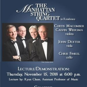 The Manhattan String Quartet in Residence