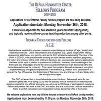 Deadline: DePaul Humanities Center Faculty Fellowship Applications!