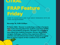 Lemony Lunches: FRAP Feature Friday with Professor Linda Adler-Kassner