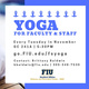 Yoga For Faculty & Staff