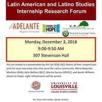 Latin American and Latino Studies Internship Research Forum