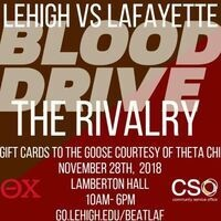 Blood Drive (Lehigh vs. Lafayette Rivalry!) | Community Service