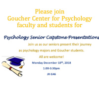 Psychology Senior Capstone Presentations