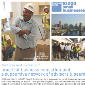 Goldman Sachs 10,000 Small Businesses OPEN HOUSE