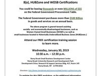 Selling to the Government & 8(a), HUBZone and WOSB Certifications Workshop