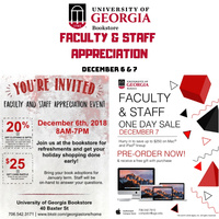 Faculty & Staff Appreciation Event at UGA Bookstore