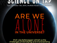 """Science on Tap: """"Are we alone in the Univerise?"""""""