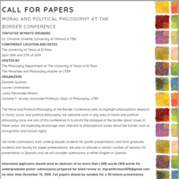 Call for Papers: Moral and Political Philosophy at the Border Conference