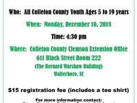 COLLETON COUNTY CLEMSON 4-H Meeting