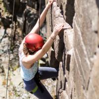 Climbing at Sand Rock