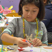 Community Ornament Making with sparc! the ArtMobile