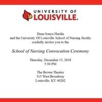 School of Nursing Convocation Ceremony