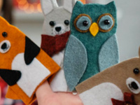 Budding Artists: Woodland Felt Finger Puppets