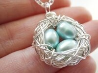 Garden Creativity: Bird Nest Necklaces