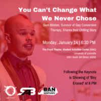 You Can't Change What We Never Chose: Keynote and a Film