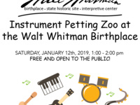 Instrument Petting Zoo at Walt Whitman Birthplace