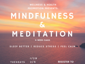Mindfulness & Meditation Class
