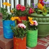 Crafty Mondays - Recycled Flower Containers