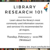 Library Research 101 - Webinar