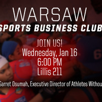 Warsaw Sports Business Club Presents Garret Osumah